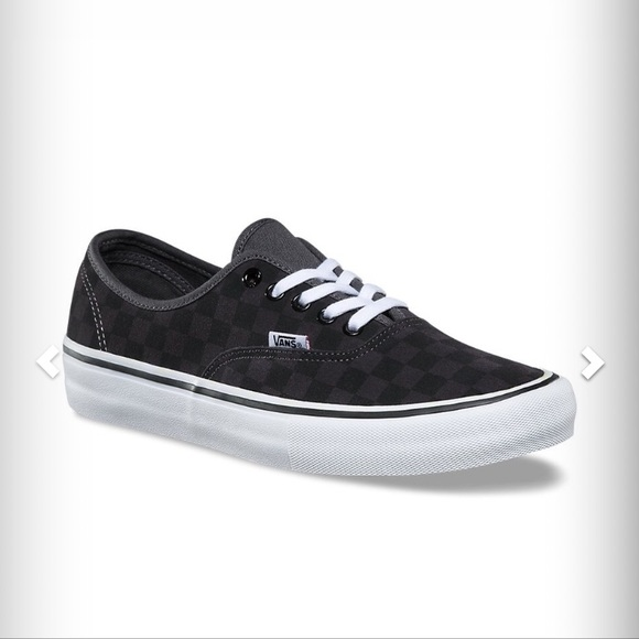 5bd1a30ce21 Vans authentic checkerboard suede pewter black new